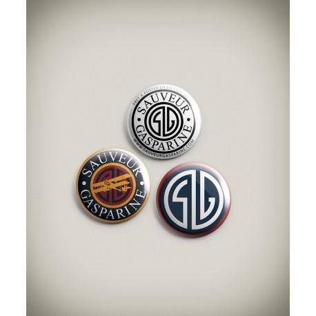 3 Badges SAUVEUR
